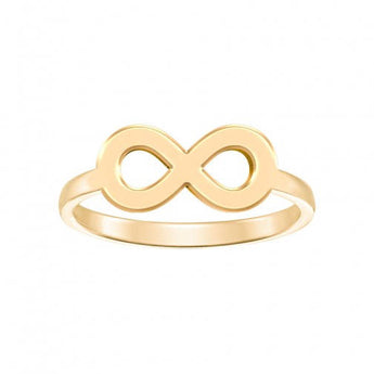 Infinity Engraveable Ring in 18K Yellow Gold Plated - My Boho Jewelry