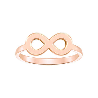 Infinity Engraveable Ring in 18K Rose Gold Plating - My Boho Jewelry