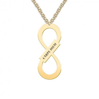 Vertical Infinity Necklace Mother Infinity Necklace Infinity Necklace For Mom Infinity Necklace With Name