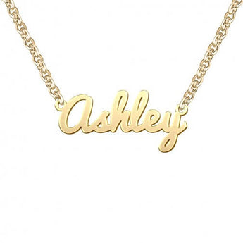 Ashley Style Name Necklace in 18K Gold Plated , christmas gift, gift for girlfriend, girlfriend name, necklace for girl, girl necklace, - My Boho Jewelry