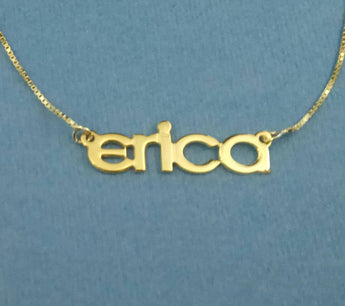 Name Necklace Gold Necklace With Name 14k Gold Special Font Nameplate Necklace Nameplate Chain Gold