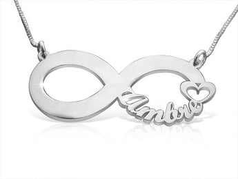 Symbol For Infinity Necklace Sterling Silver - My Boho Jewelry