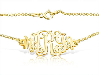 5 Initials 18k Gold Plated Monogram Bracelet - My Boho Jewelry