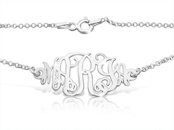 Family Monogram 5 Initial Sterling Silver Bracelet - My Boho Jewelry