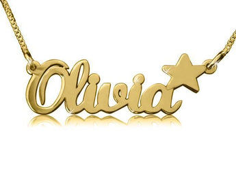 Olivia Star Gold Name Necklace - My Boho Jewelry