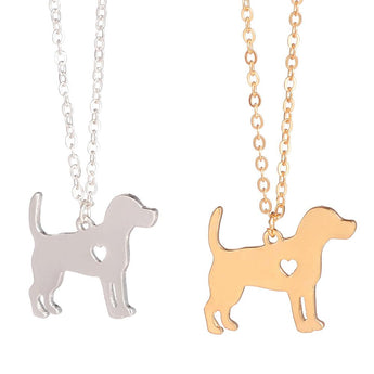 Gold Silver Beagle Necklace Dog Pendant Dog Jewelry Stocking Stuffer Pet Jewelry  Pets Memorial Gift Family Pet Dog lovers - My Boho Jewelry