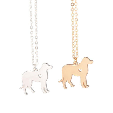 Gold Silver  Dog Labrador Necklace Labrador Retriever Jewelry Silver Dog Necklace Dog Pendant Christmas Gifts for lovers - My Boho Jewelry