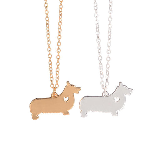 Gold Silver Corgi Necklace Welsh Corgi Jewelry  Personalized Pets New Puppy Custom Dog Necklaces Adopt For women lovers gift - My Boho Jewelry