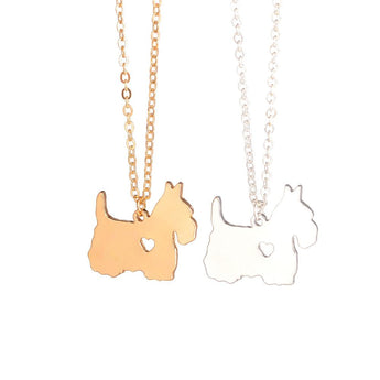 Gold & silver Scottish Terrier Necklace Scottie Necklace Custom Dog Necklace Pendant Jewelry Pet Jewelry  Pets Dog lovers - My Boho Jewelry