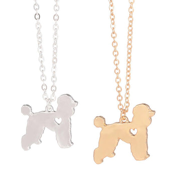 Gold Silver Poodle Necklace Dog Groomer Gift Breed Necklace Silver Dog Pendant New Pet Pet Memorial Gift Pet Loss for lovers - My Boho Jewelry