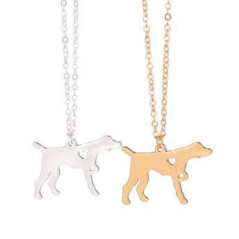 Fashion Gold Silver German Short Haired Pointer Dog Necklace Dog Breed  Memorial  Pet Lover Gift English Pointer  lovers - My Boho Jewelry