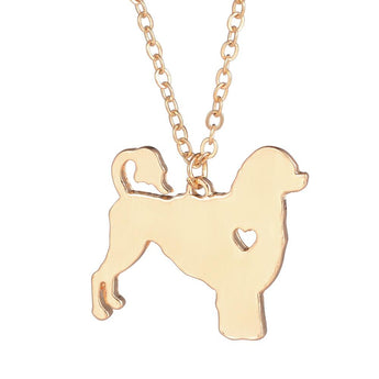 Gold Silver Portuguese Waterdog Dog Pendant Breed Silver Charm  Pets Necklace Adopt Christmas Gifts for lovers - My Boho Jewelry