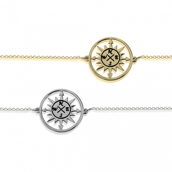 Cut Out Compass Bracelet - My Boho Jewelry