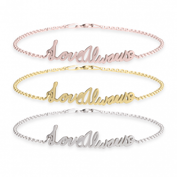 Personalized Signature Bracelet - My Boho Jewelry