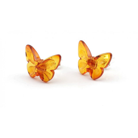 Silver Baltic amber earrings 77