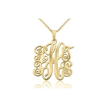 Small 5 Letter Monagram Necklace in 18k Gold Plated - My Boho Jewelry