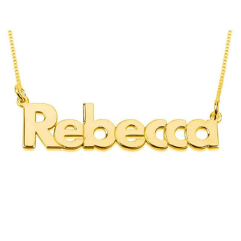 Verdana Print 18k Gold Plated Name Necklace - My Boho Jewelry