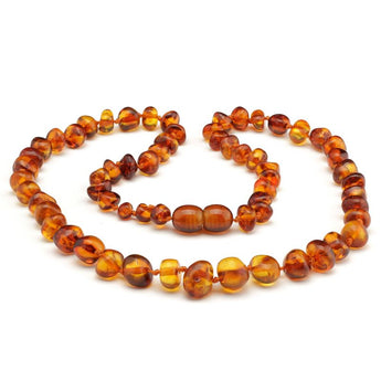 Baroque baltic amber necklace 117