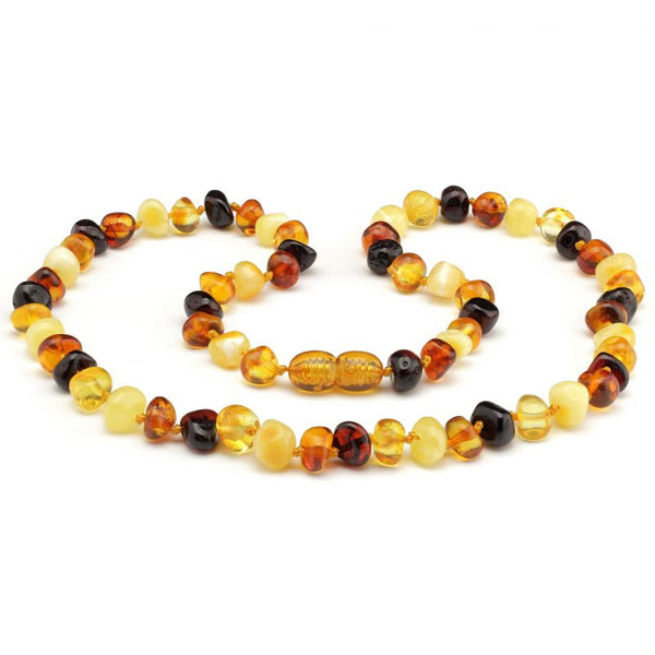 Baroque baltic amber necklace 120