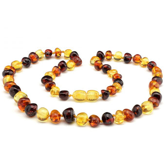 Baroque baltic amber necklace 121