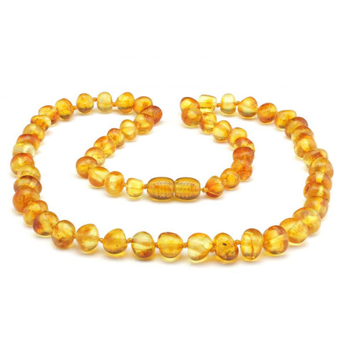 Baroque baltic amber necklace 124