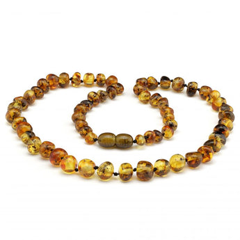 Baroque baltic amber necklace 146