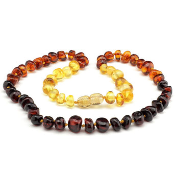 Baroque baltic amber necklace 147