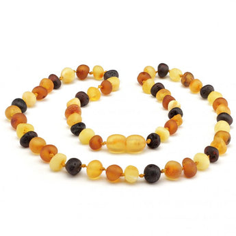 Baroque baltic amber necklace 167