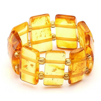 Baltic amber ring 14