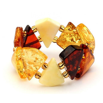 Baltic amber ring 11