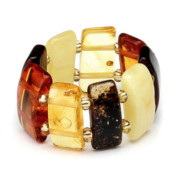 Baltic amber ring 6
