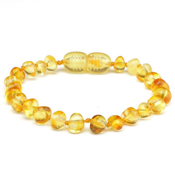 Baroque amber teething bracelet 12