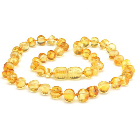 Baroque amber teething necklace 12