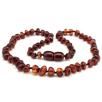 Baroque amber teething necklace 14