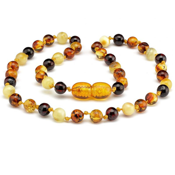 Round amber teething necklace 27