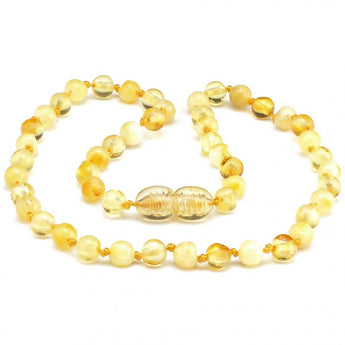 Round amber teething necklace 30