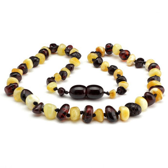 Baroque amber teething necklace 33