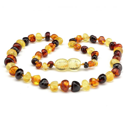 Baroque amber teething necklace 36