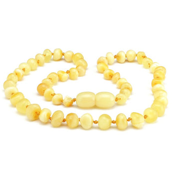Baroque amber teething necklace 40