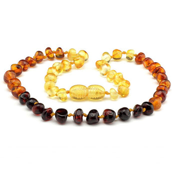 Baroque amber teething necklace 48