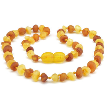 Baroque amber teething necklace 53