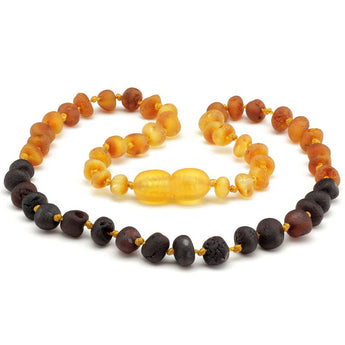 Baroque amber teething necklace 54