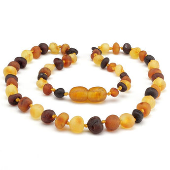 Baroque amber teething necklace 55