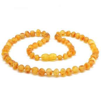 Baroque baltic amber necklace 165