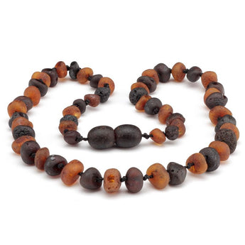 Baroque amber teething necklace 59