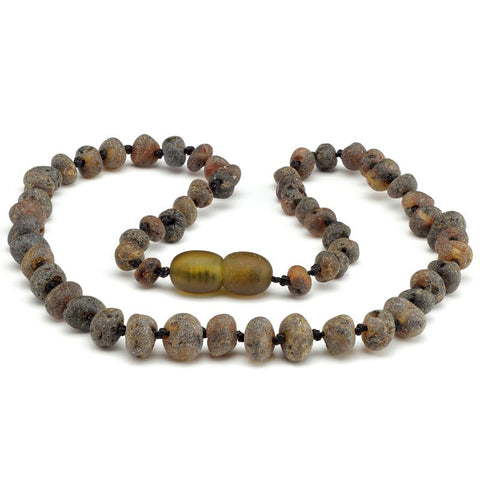 Baroque amber teething necklace 69