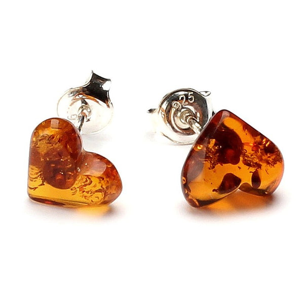 Silver Baltic amber earrings 37