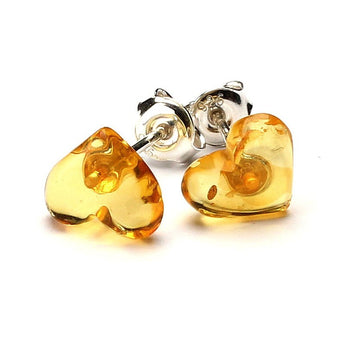 Silver Baltic amber earrings 38