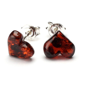 Silver Baltic amber earrings 39