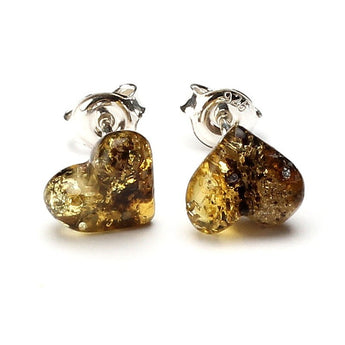 Silver Baltic amber earrings 40